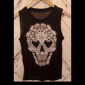 Fifth Sun Skull Graphic Tank Top M